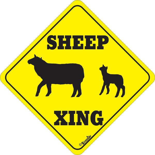 Xing Sign - Sheep - Critter Country Supply Ltd.