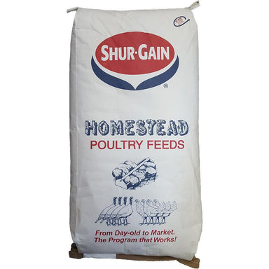 Shur-Gain® Homestead 20% Medicated Poultry Starter Ration Crumbled 25 KG Bag - Critter Country Supply Ltd.