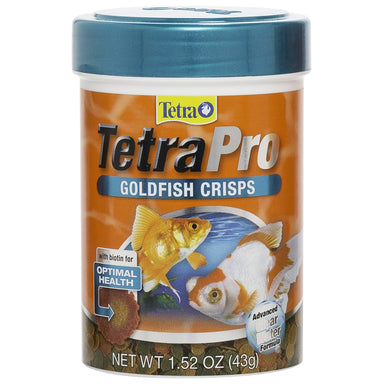 TetraPro™ Goldfish Crisps 1.52oz - Critter Country Supply Ltd.