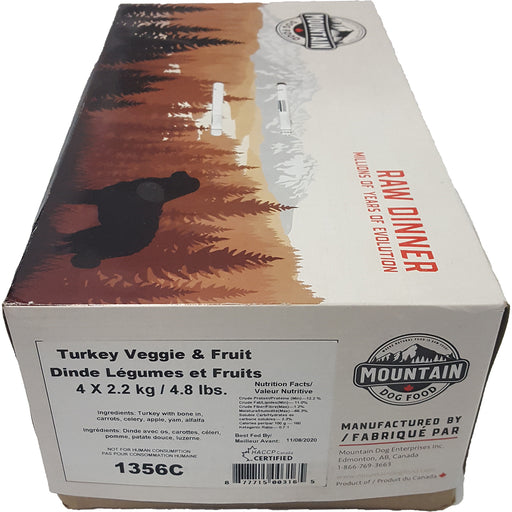 Mountain Dog Turkey Veggie & Fruit 4 x 4.8LB - Critter Country Supply Ltd.