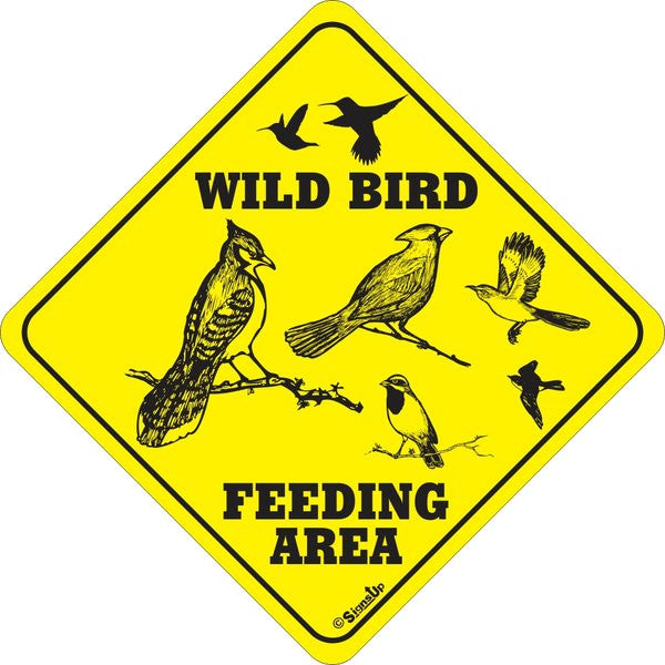 Wild Bird Feeding Area Sign