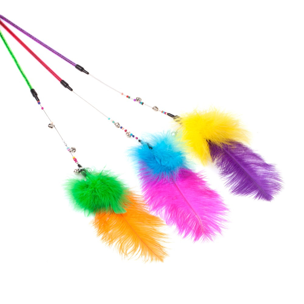 WonPet® Colourful Feather Cat Teaser