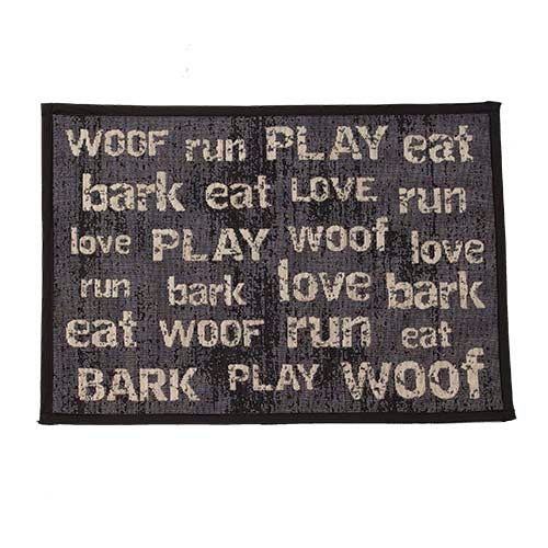 "PetRageous Designs® Vintage Tapestry Mat, Dark Gray, 13"" x 19"" - Critter Country Supply Ltd."