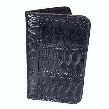 Black Turkey Leg Leather Card Holder - Critter Country Supply Ltd.