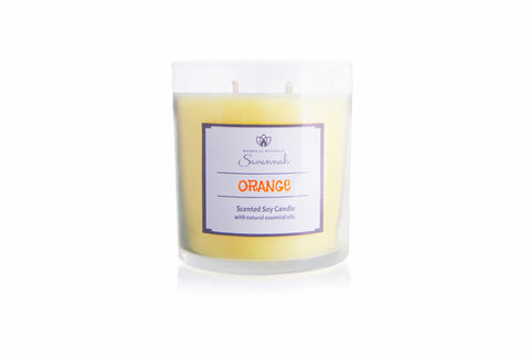 Orange Scented Soy Candle 12 oz