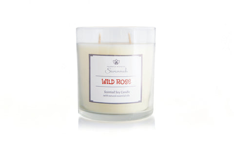 Wild Rose Scented Soy Candle 12oz