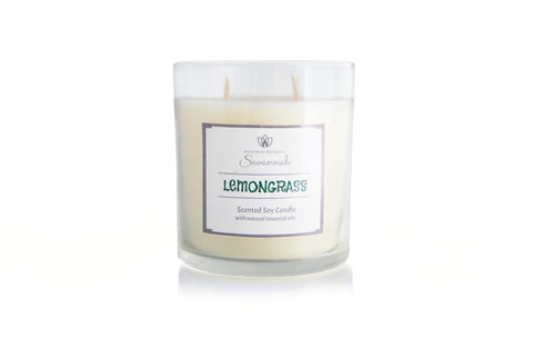 Lemongrass Scented Soy Candle 12 oz
