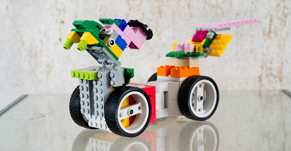 Combine your Tinkerbots with building bricks