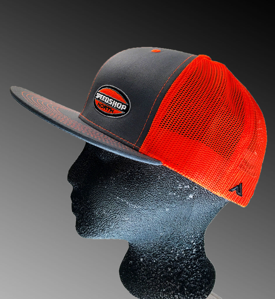 Speed Shop North - Pacific Trucker Mesh snapback - GRAPHITE Neon ... 0d1619f3a12
