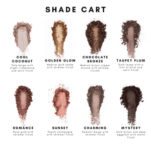 HAN Skincare Cosmetics Eyeshadow Shade Guide