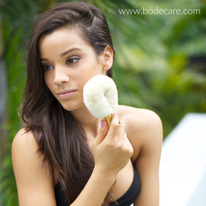 Bodecare jute dry face brush with model