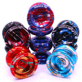 Blue Red Silver Splashes Aluminum Sidekick PRO YoYo - UNresponsive - SK-Pro-Blu-Red-Sil