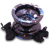 Black Blue Silver Splashes Aluminum Sidekick Pro Unresponsive YoYo