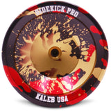 Gold Black Red Splashes Aluminum Sidekick PRO YoYo - UNresponsive - SK-Pro-Gld-Blk-Red