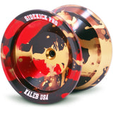 Gold Black Red Splashes Aluminum Sidekick PRO YoYo - UNresponsive
