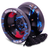 Black Red Blue Splashes Aluminum Sidekick Pro Unresponsive YoYo