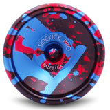 Black Red Blue Splashes Aluminum Sidekick PRO 7S Unresponsive YoYo