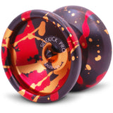 Black Red Gold Splashes Aluminum Sidekick PRO 7S YoYo - UNresponsive
