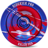 Blue Red Silver Splashes Aluminum Sidekick PRO Unresponsive YoYo