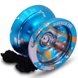 Blue Silver Gold Splashes Aluminum Sidekick PRO Unresponsive YoYo