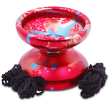 Red Blue Pink Splashes Aluminum Sidekick PRO 7S YoYo - Unresponsive
