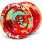 Red Yellow Green Splashes Aluminum Sidekick PRO YoYo - UNresponsive - SK-Pro-Red-Yel-Grn
