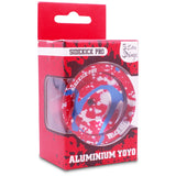 Silver Red Blue Splashes Aluminum Sidekick PRO YoYo - UNresponsive - SK-Pro-Sil-Red-Blue
