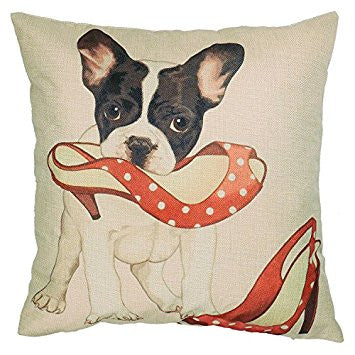 Pug Cushion Cover - Pretty Heels