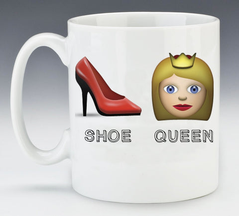 Emoji Shoe Queen Mug - Pretty Heels
