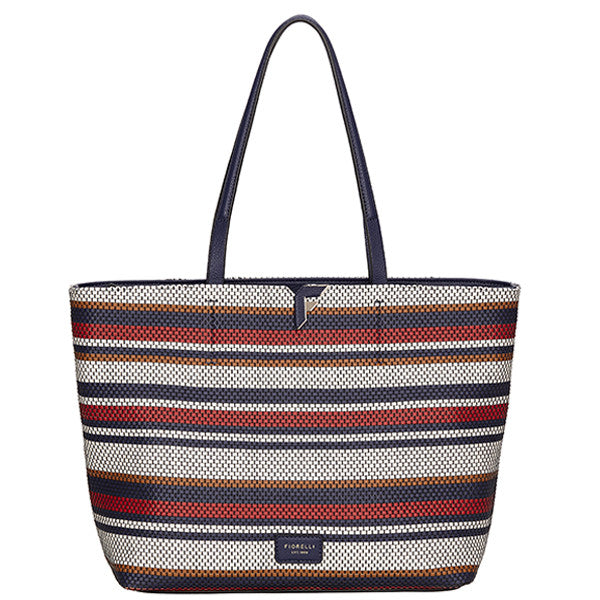 Tate Tote Navy Weave