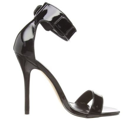 Amuse Black Sandal Heels - Pretty Heels - 6