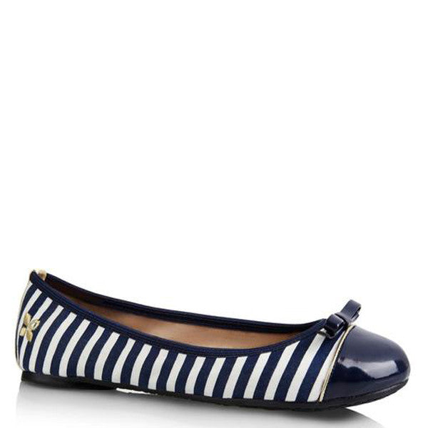 Cara Navy and White Stripe