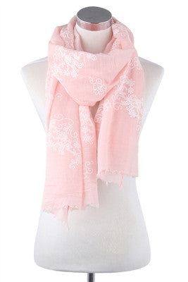 Filigree Pink Scarf - Pretty Heels