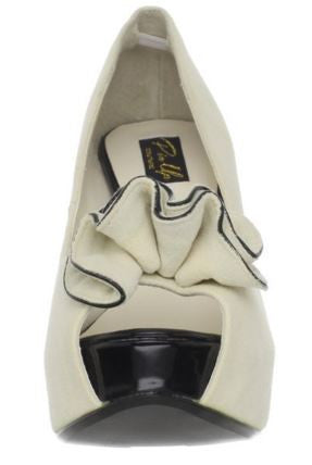 Lolita Cream Suede High Heels - Pretty Heels - 2