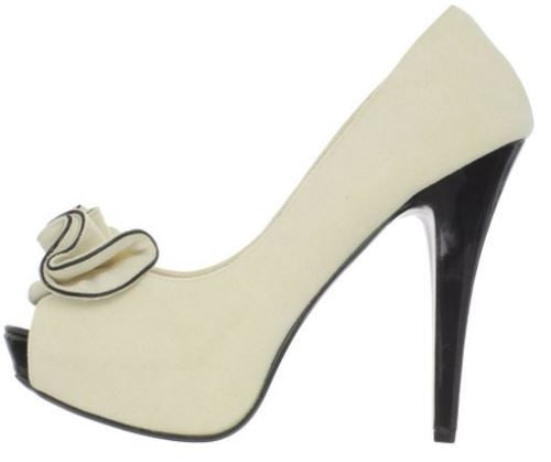 Lolita Cream Suede High Heels - Pretty Heels - 5