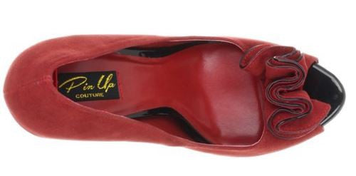 Lolita Red Suede High Heels - Pretty Heels - 6