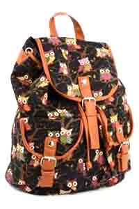Owl Backpack Black - Pretty Heels - 1