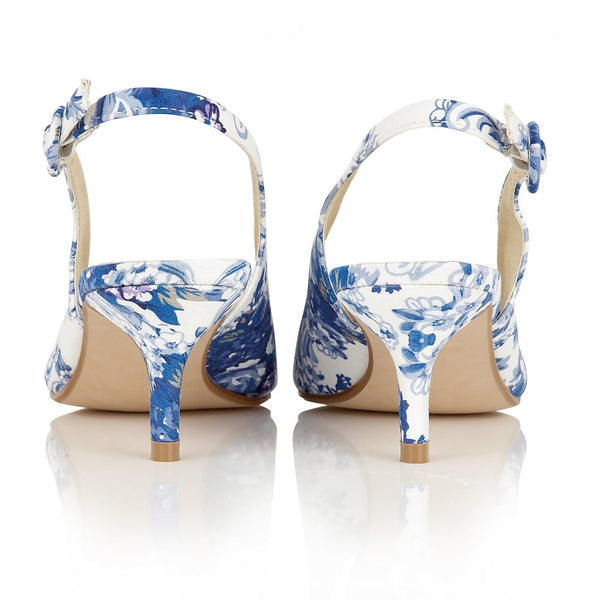 Seneca Blue & White - Pretty Heels - 3