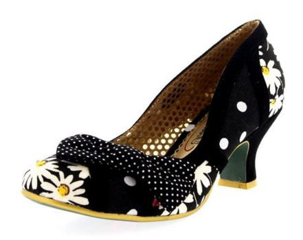Shake It Black and White Daisy Heels - Pretty Heels - 3