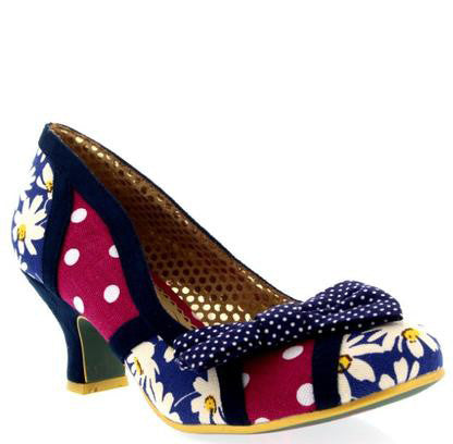 Shake It Blue and Purple Daisy Heels - Pretty Heels - 1