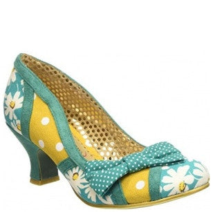 Shake It Teal and Yellow Daisy Heels - Pretty Heels - 1