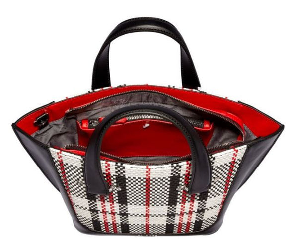 Tisbury Mini Tote Mono Check