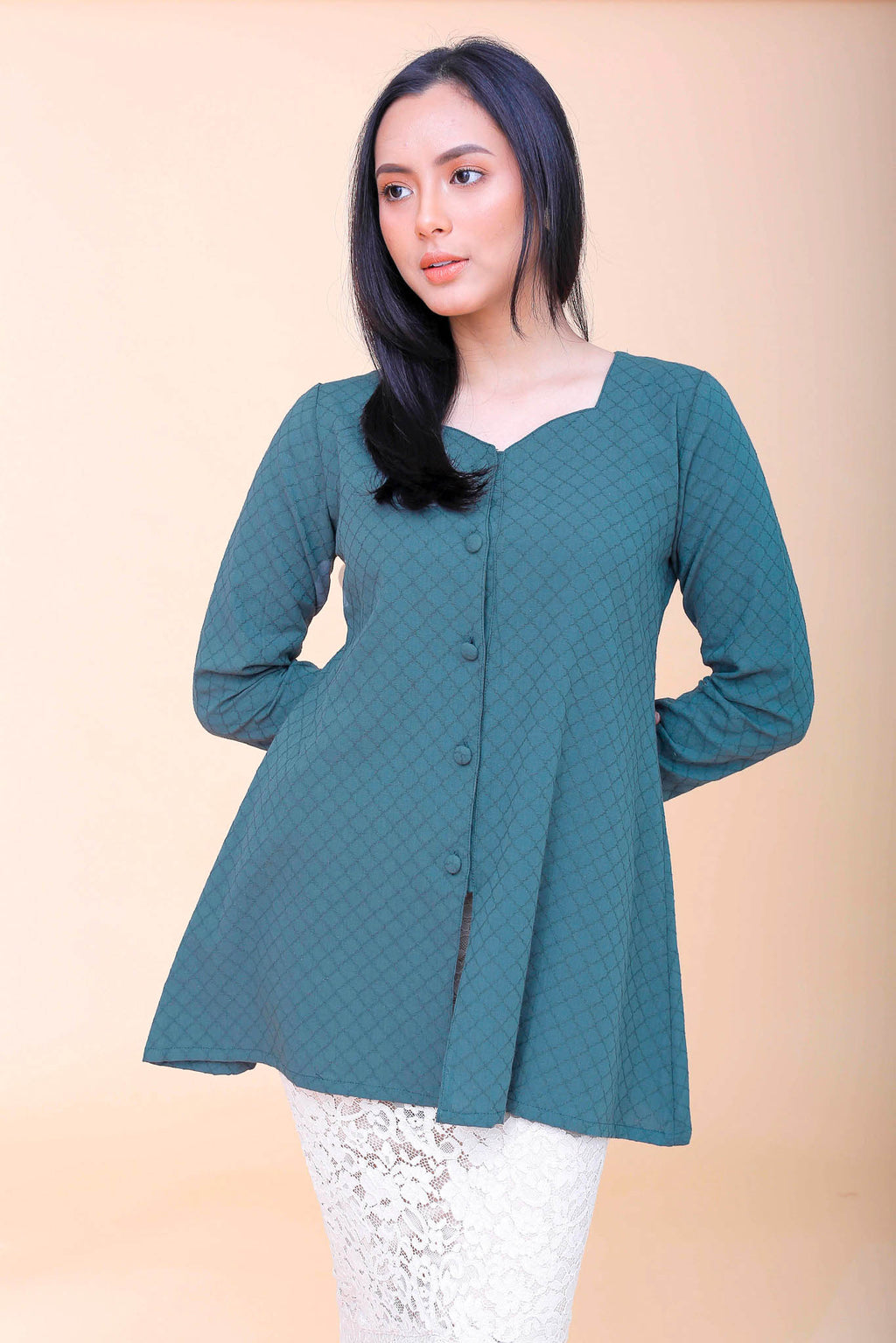 Agnes Kebaya Top Green