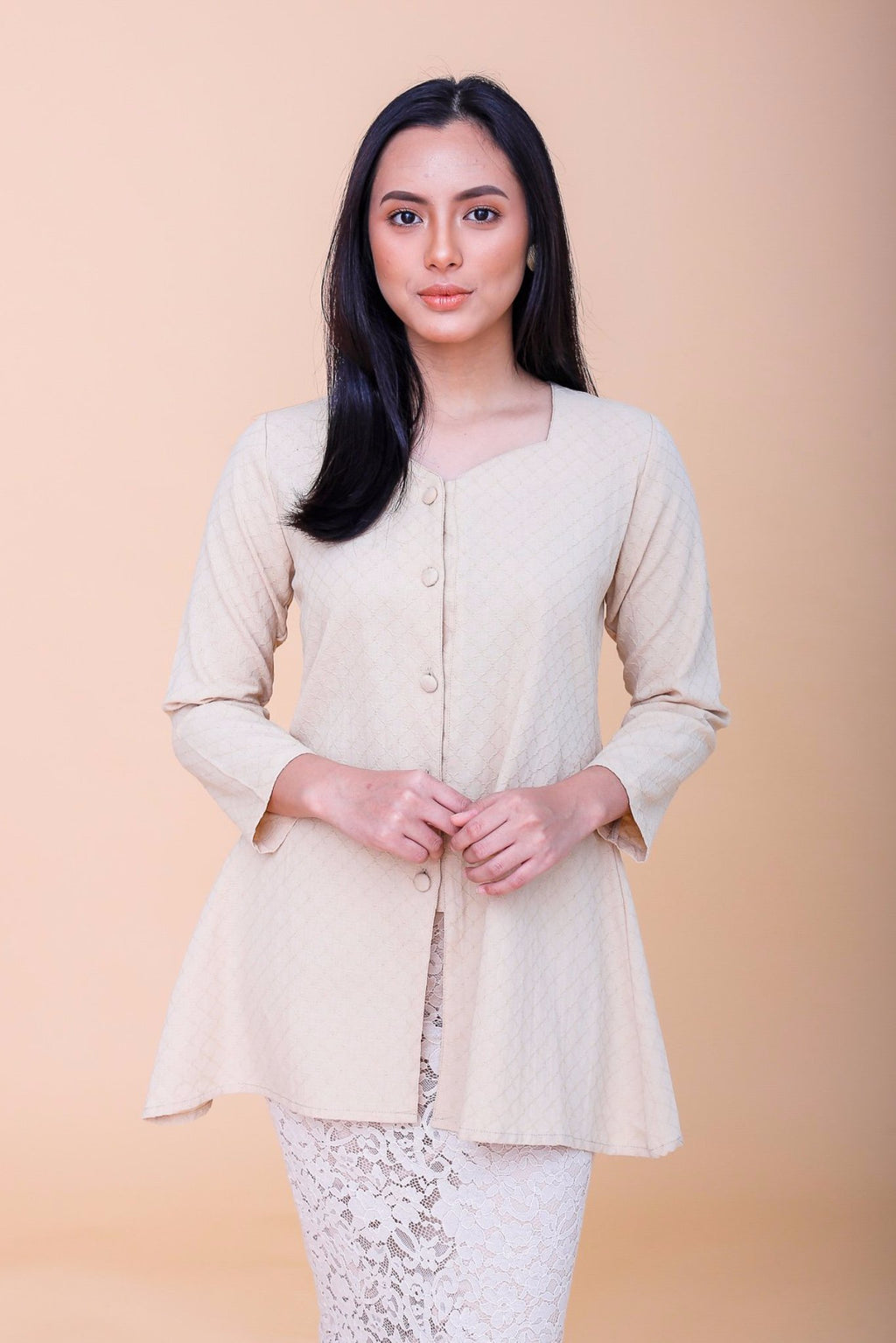 Agnes Kebaya Top Tan