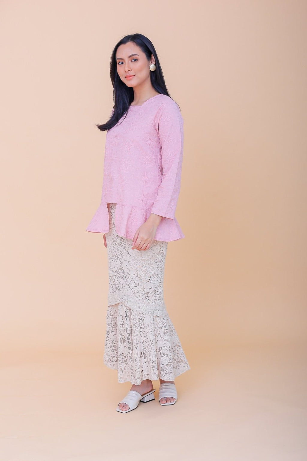Melati Mini Kebaya Top Pink