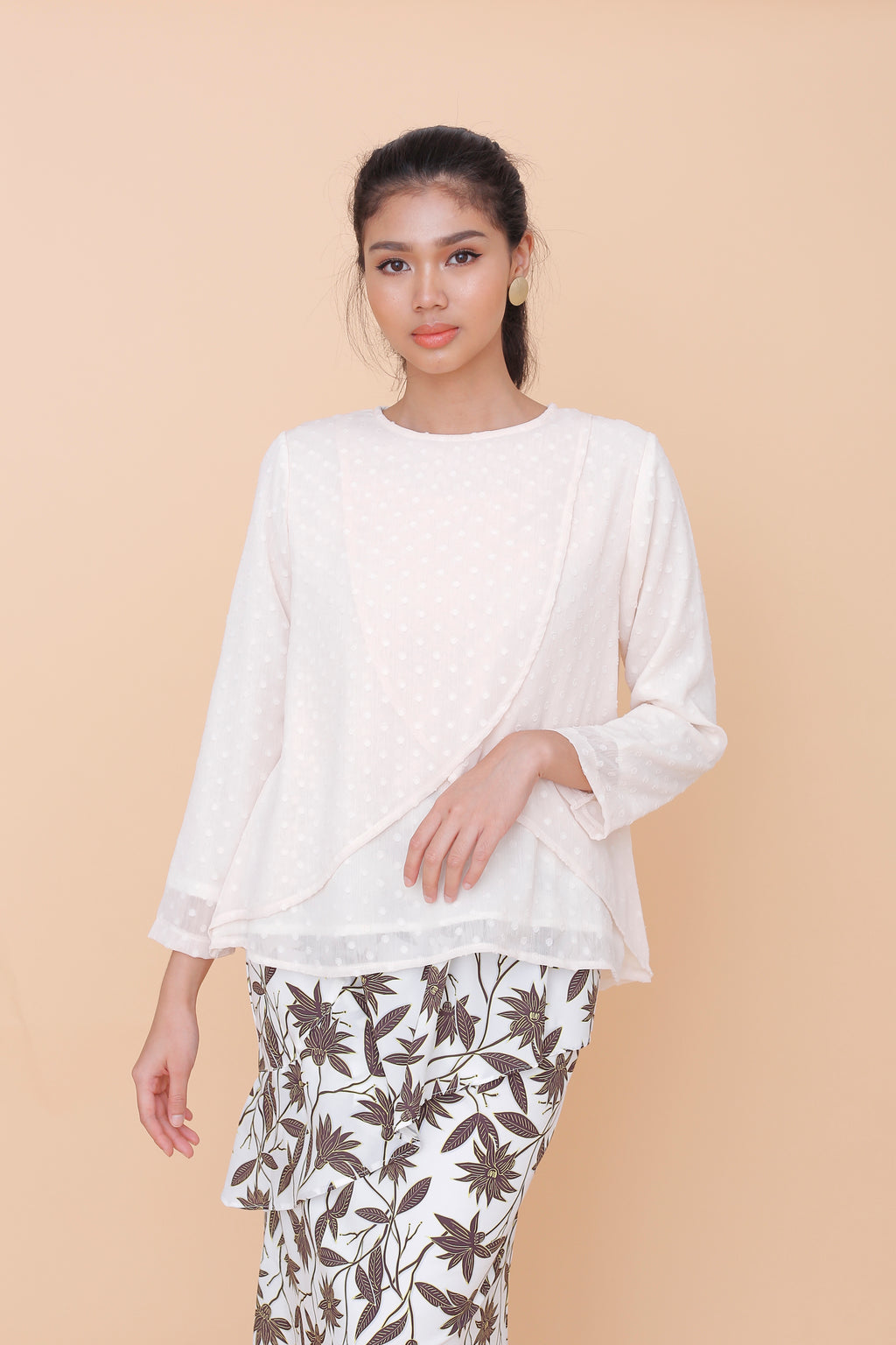 Kyra Chiffon Top Cream