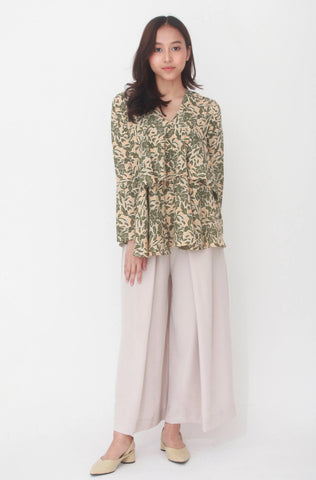 Lucy Floral Skirt Brown