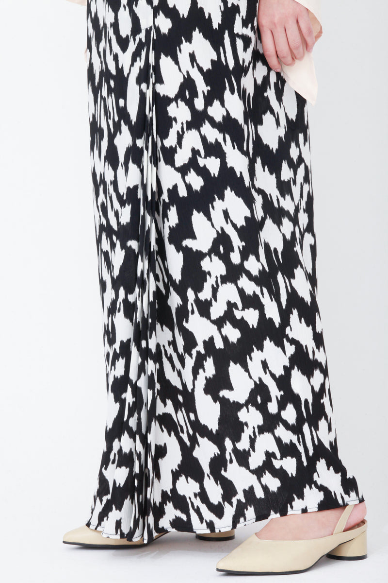 Imelda Printed Skirt Black