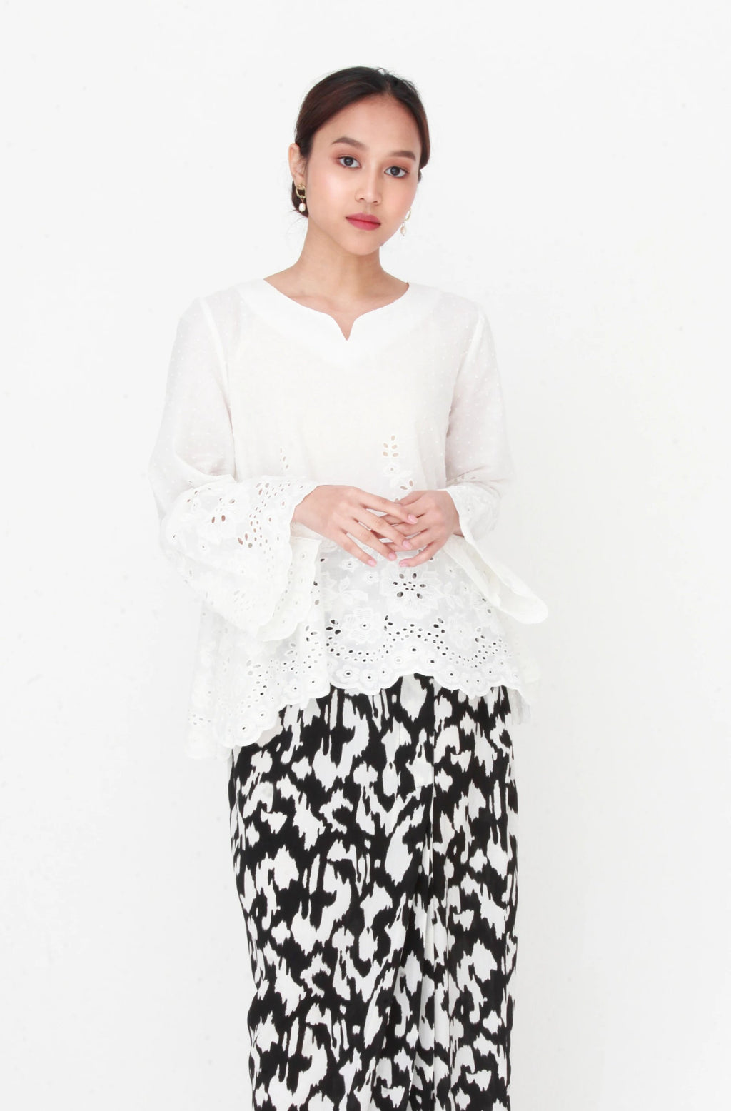 Cempaka Embroidery Top
