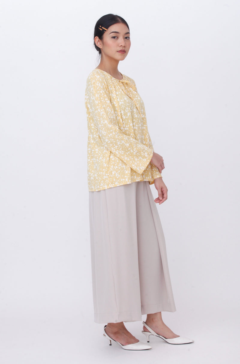 Lucy Floral Top Yellow